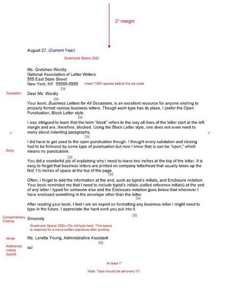 block letter format sle business letter october 2015