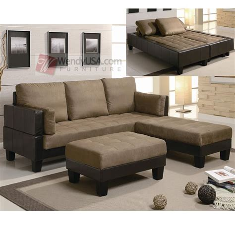 Discount Sleeper Sofa Beds by Microfiber Two Tone Sleeper Sofa Sectional With