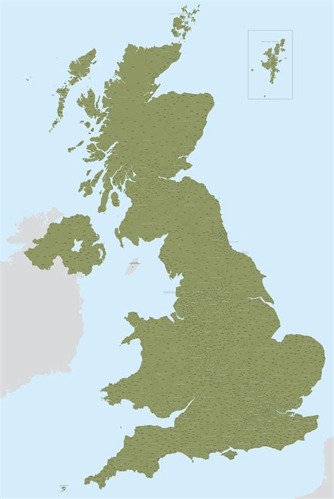 detailed uk postcodes map illustrator pdfs royalty