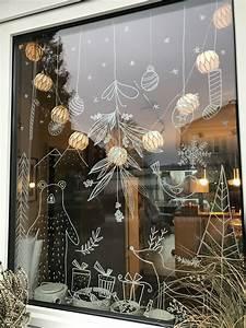 Fenster Bemalen Weihnachten : chalk marker on glass fenster bemalen mit dem kreidestift weihnachten fensterdekoration ~ Watch28wear.com Haus und Dekorationen