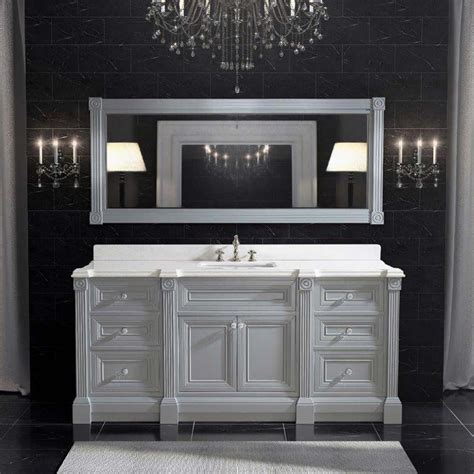 Bathroom Vanities Single Sink by 72 Inch Gray Finish Single Sink Bathroom Vanity Cabinet