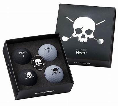 Volvik Vivid Balls Golf Skull Ball Crossbones
