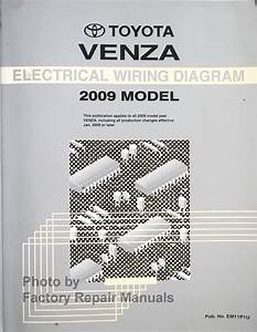 2009 Toyota Venza Electrical Wiring Diagrams Original