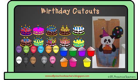Eslefl Preschool Teachers Happy Birthday For Ell