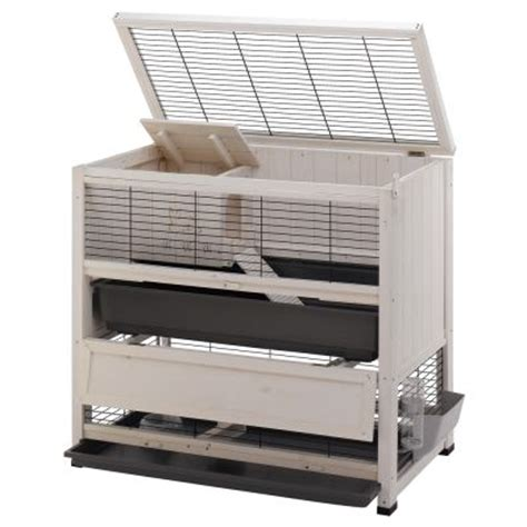 Indoor Wooden Rabbit Hutch - ferplast wooden cage cottage at zooplus
