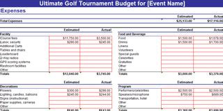 Tournament Spreadsheet Template by Golf Tournament Planning Dojiggy