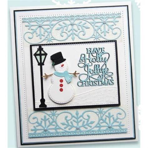 sue wilson christmas dies festive frosty snowflake border