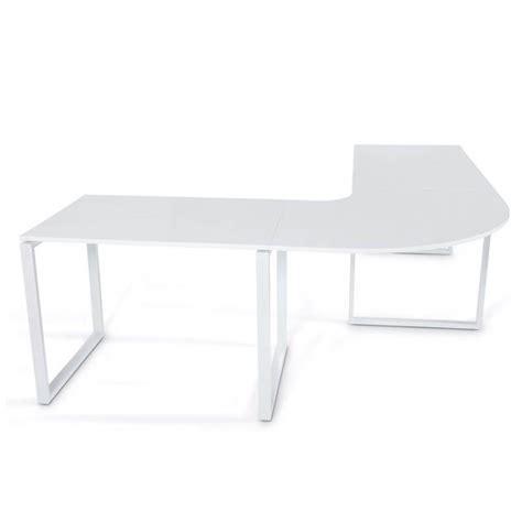 bureau peint bureau d 39 angle design fidji en bois laqué et métal peint