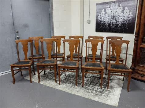 antique dining room furniture for t back quartered oak dining chairs set of 10 9021