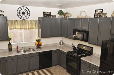 grey glazed kitchen cabinets they did gray paint in olympic nights arbor with 4063