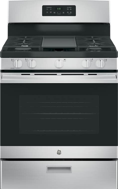 "Jgbs66rekss  Ge 30"" Gas Range, Griddle  Stainless Steel"