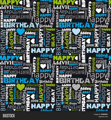 happy birthday seamless background pattern in vector stock