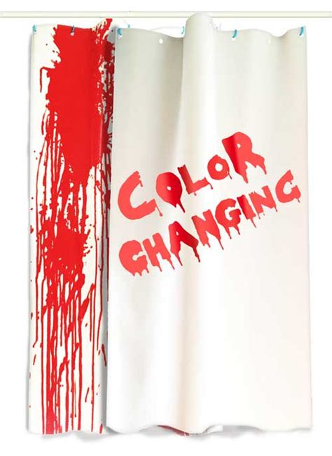 shower that changes color bloody shower curtain psycho curtains that turn when