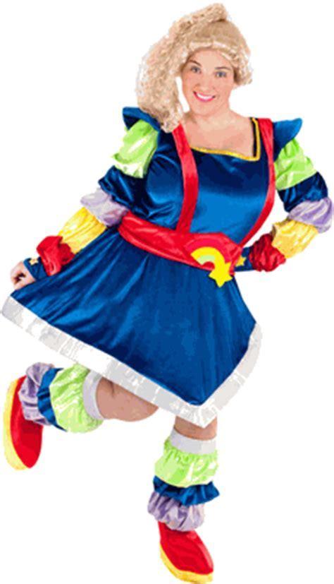Plus Size Magic Rainbow Diva Costume   Rainbow Brite