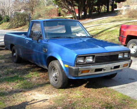 how does cars work 1985 mitsubishi truck on dodge other pickups pickup truck 1985 blue for sale jb7fp44j2fp412842 1985 dodge ram d50 diesel
