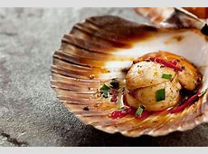 Scallops in the shell with Asian dressing Recipes
