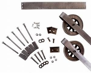 Rustic European Slide Steel Barn Wood Door Hardware Track