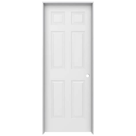 home depot interior door jeld wen 30 in x 80 in colonist primed left smooth