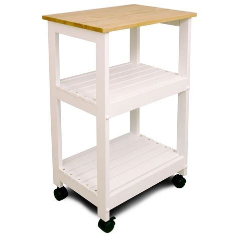 Catskill Craftsmen Natural Kitchen Cart with Shelf 81515