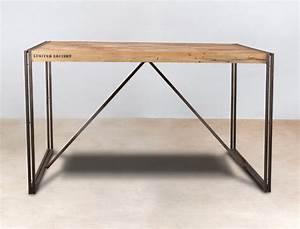 Meuble Mange Debout : table mange debout 150cm en bois recycl s industryal ~ Teatrodelosmanantiales.com Idées de Décoration