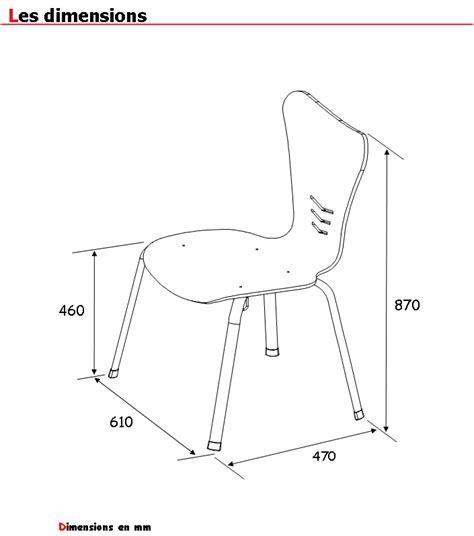 Mesure D Une Chaise by Dimension Chaise Classique