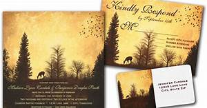 wedding cards and gifts rustic deer in trees country With wedding invitations red deer