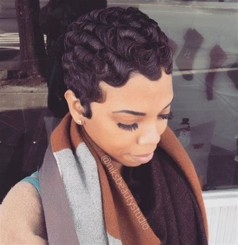 Short Finger Wave Pixie Hairstyle 4 Short Hairstyles 2018
