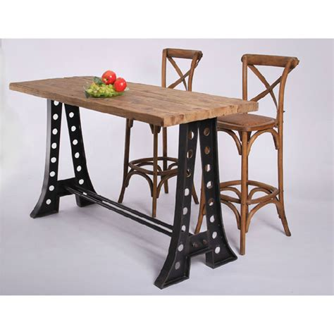 rustic wrought iron table ls rustic nostalgia old fir bar tables wrought iron