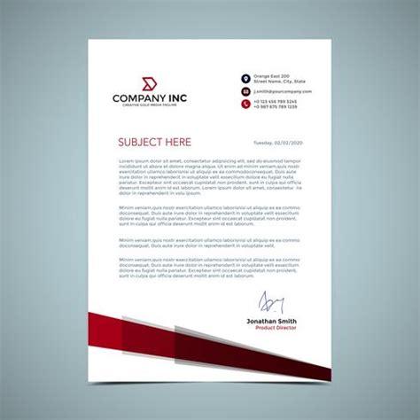 red letterhead design   vector art stock