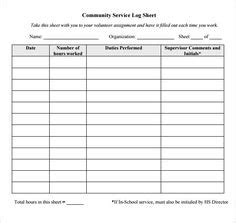 Timesheet Template Students by Community Service Timesheet Printable Time Sheets Free To