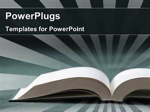powerpoint template open book with rays in background 22564 With powerplugs powerpoint templates
