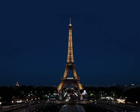 ml paris night france city eiffel tower papersco