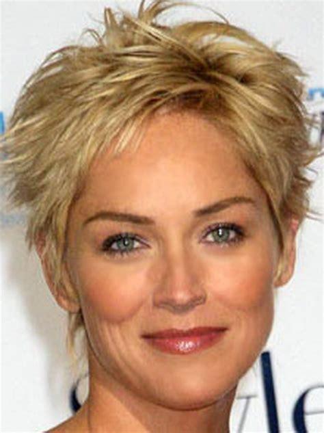 short haircuts  older women   faces
