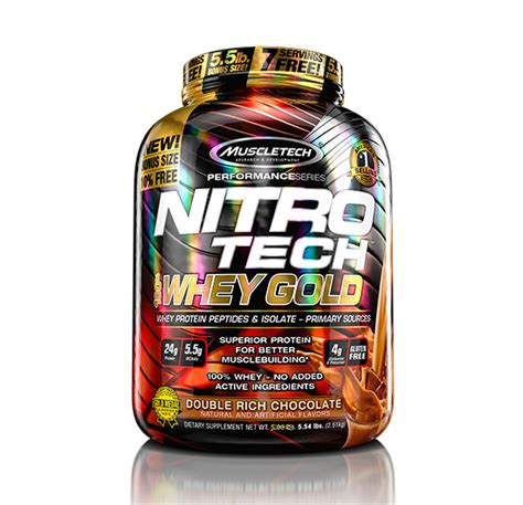 NITROTECH 100% Whey Gold 5.5 lbs | Supplement Factory