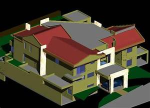 House 3d Dwg Model For Autocad  U2013 Designs Cad