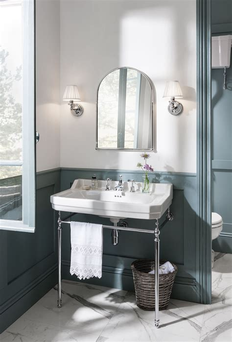 Blue Trend Period Bathroom With A Luxury Freestanding
