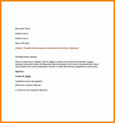 authorization letter samples amp templates template lab