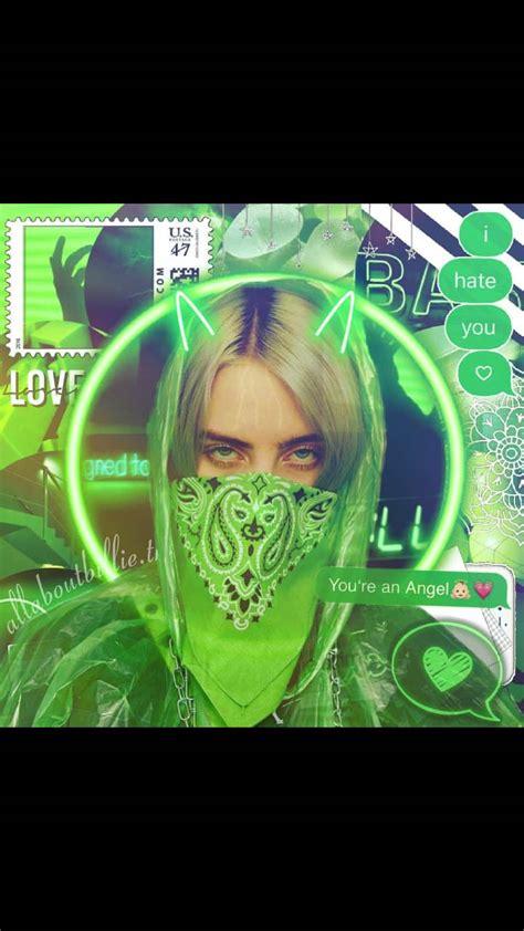 billie eilish aesthetics green wallpapers wallpaper cave