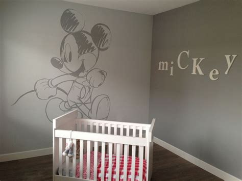 mickey mouse wall painting  babyroom  ovg kids