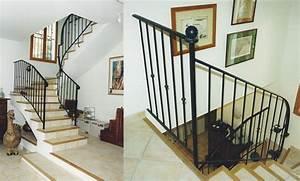 Rampe Pour Escalier : rampe en fer pour cage d 39 escalier escalier pinterest ~ Melissatoandfro.com Idées de Décoration