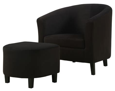 Microfiber Chair And Ottoman by 8055 Black Padded Microfiber Accent Chair And Ottoman From