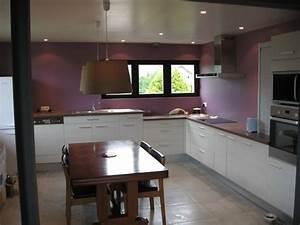 peinture pour cuisine grise peinture pour chambre With awesome couleur peinture salon tendance 6 cuisine photo 55 peinture