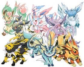 Eeveelutions Pokemon Mega Evolutions