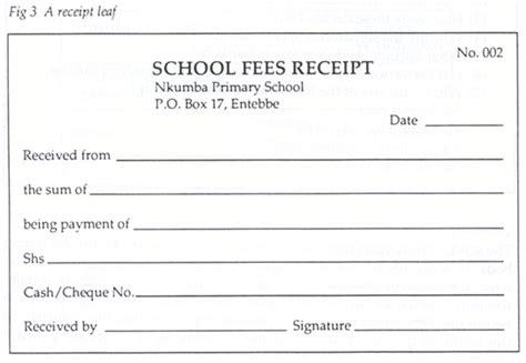 fee receipt format printable schools fee receipt format template excel