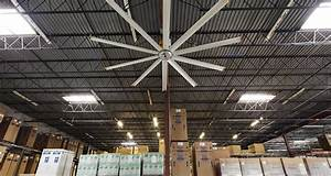 large warehouse ceiling fans in distribution facility With big fans for warehouse