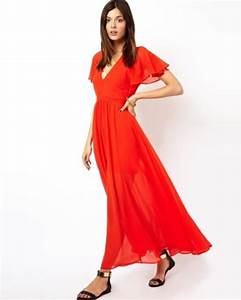 ASOS Maxi Dress With Deep Plunge And Ruffle Sleeve - saved
