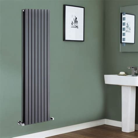We Love This Grey Radiator Against The Green Background