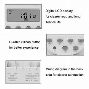 Digital Timer Switch 7 Day Weekly Programmable Time Relay