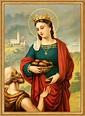 Heilige Elisabeth von Thüringen Schutzpatronin Witwen St ...