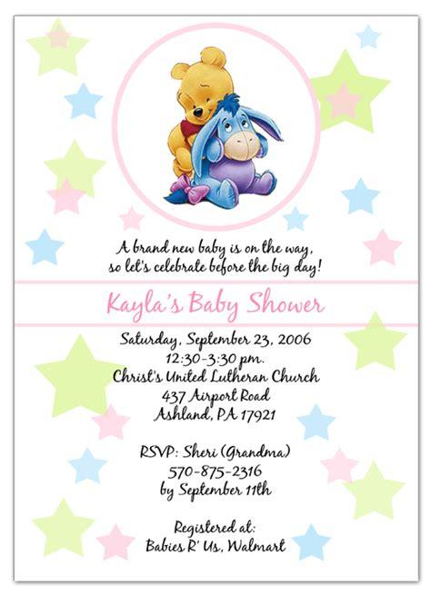 winnie  pooh invitation template